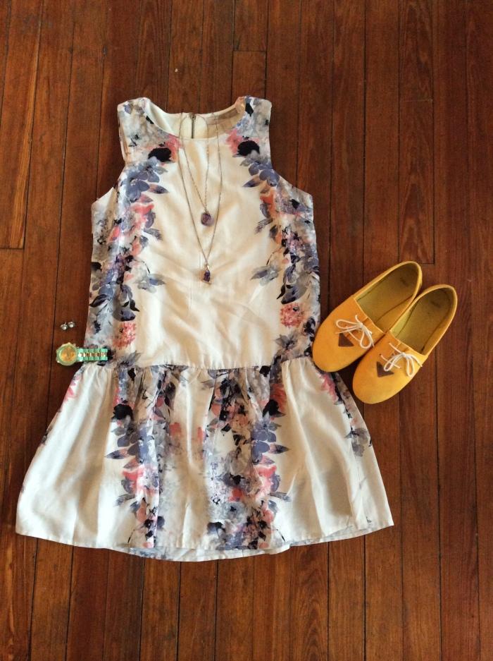 Floral Drop Waisted Dress