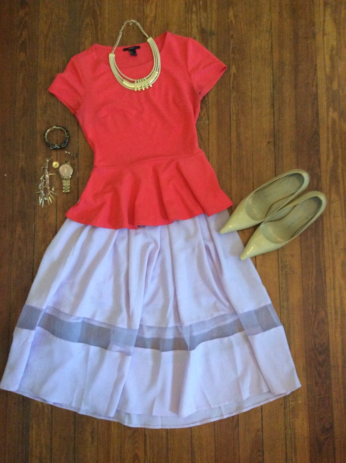 Midi Skirt, Peplum Top